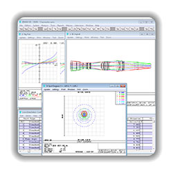 Software für optische Simulation Zemax (Zemax Development Corporation)